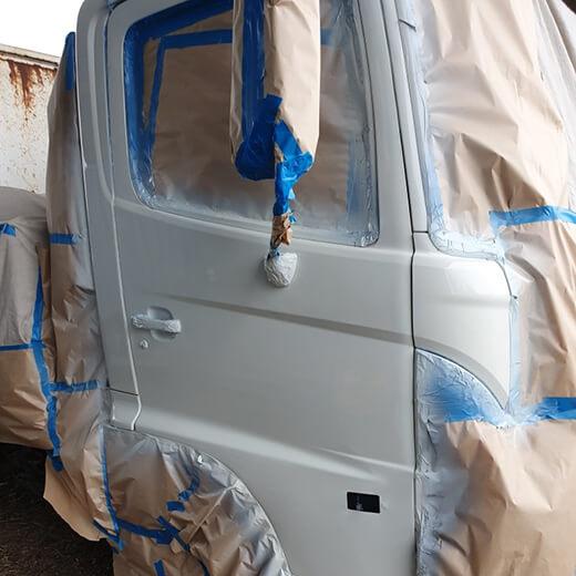 Industrial panel repair of large truck