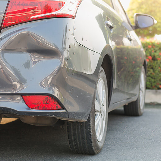 Mobile dents and scratches repair of dented bumper