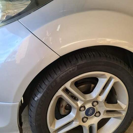 repair of car dents before image